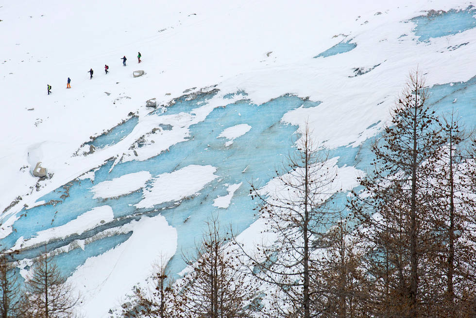Chamonix glacier, Alps, France