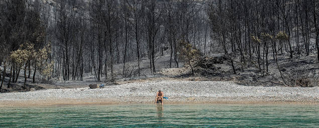 fires 2018, Spetses island, Greece