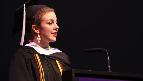 Catherine Medin gives the 2016 Spring Commencement address