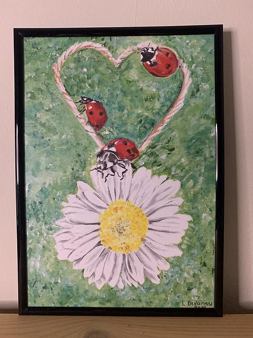 A4 Ladybug Painting Print