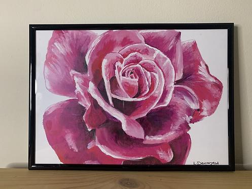 Rose Acrylic painting print