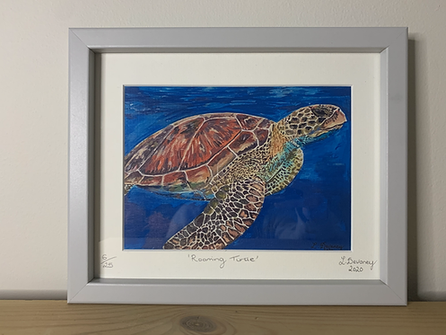 'Roaming Turtle' High Quality print on canvas paper