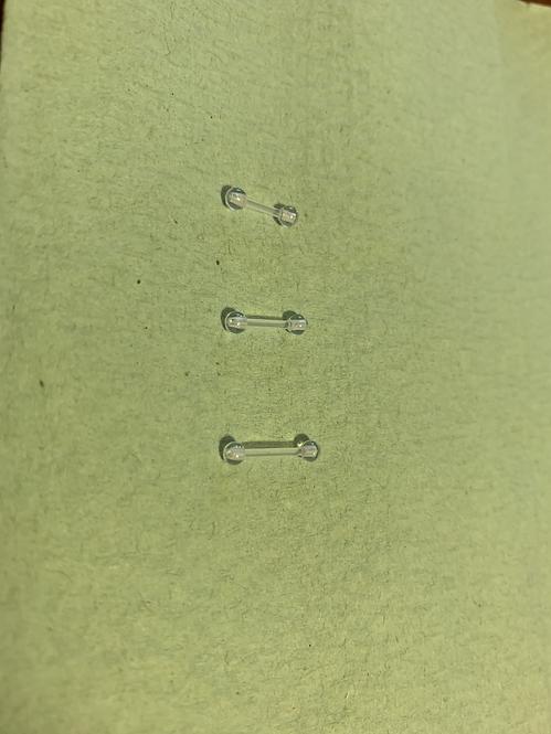 Bio flex Micro Barbell with Acrylic balls