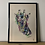 Thumbnail: Giraffe - Water colour limited print.