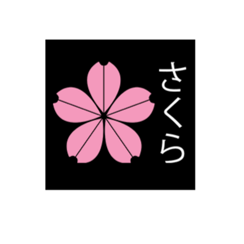 Sakura Flower Logo Sticker