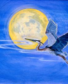 Rising Above - Blue Heron Series