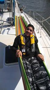 Ian took to sailing