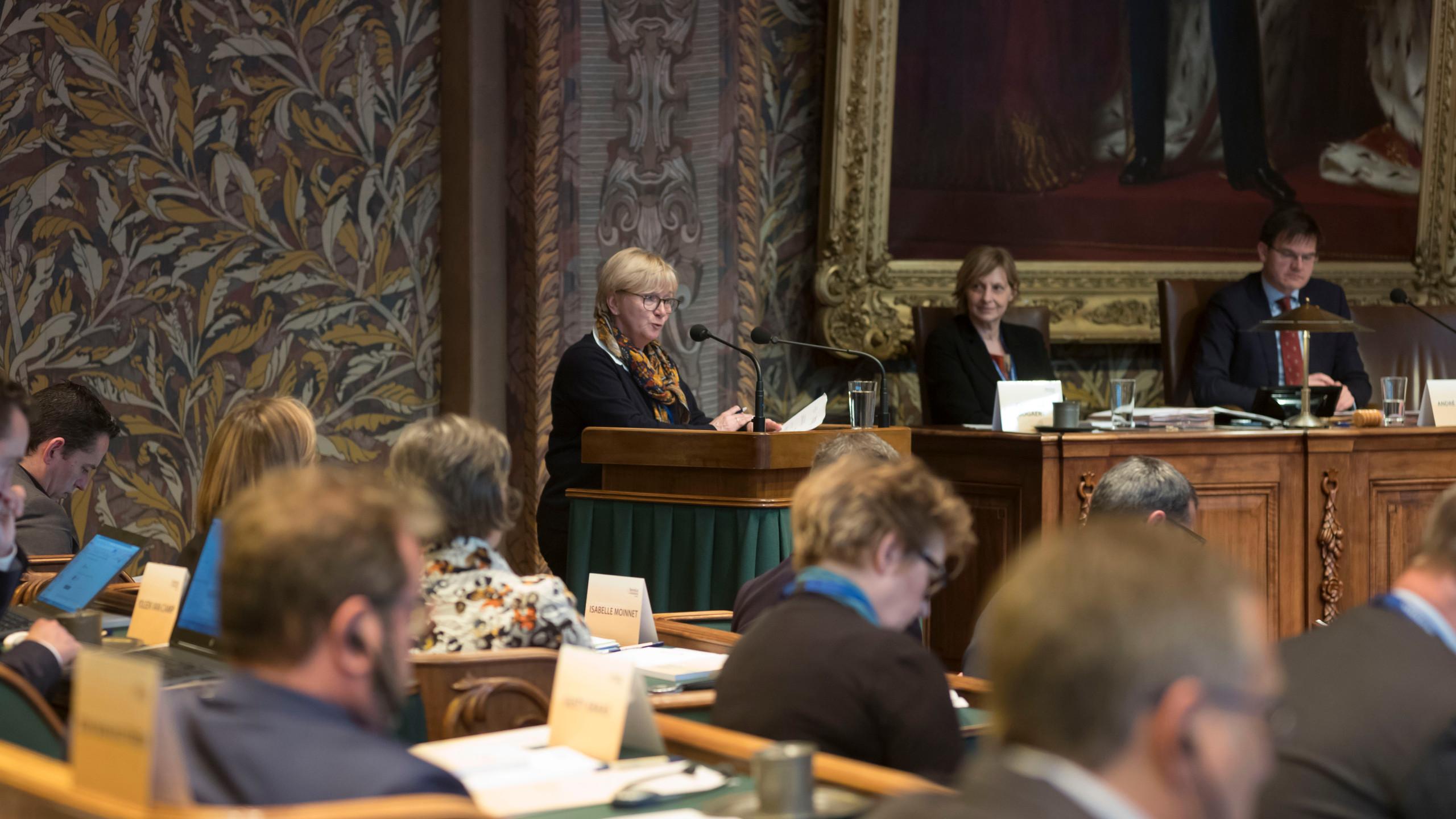 Patricia Creutz im Benelux Parlament 23.03.2018