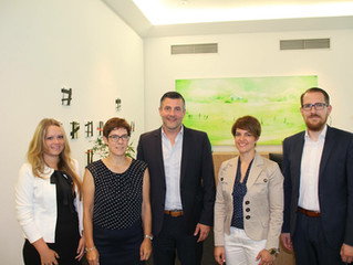 CSP-Delegation bei Arbeitsgespräch mit Annegret Kramp-Karrenbauer