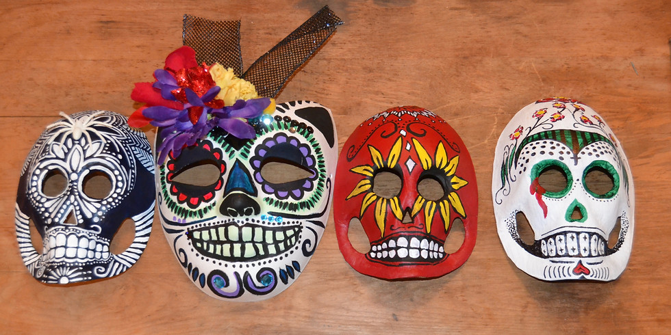 Sugar Skull Mask Decorating Saturday All Day Open Studio