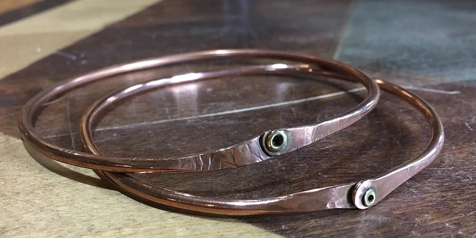 Copper Bangles   Open Studio