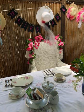 Bridal Tea Thrown