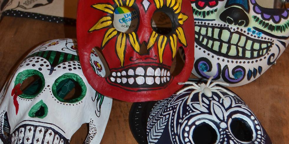 Sugar Skull Mask Decorating Open Studio (Saturday)