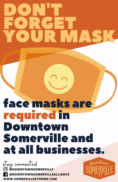 facemasks are required in downtown somer