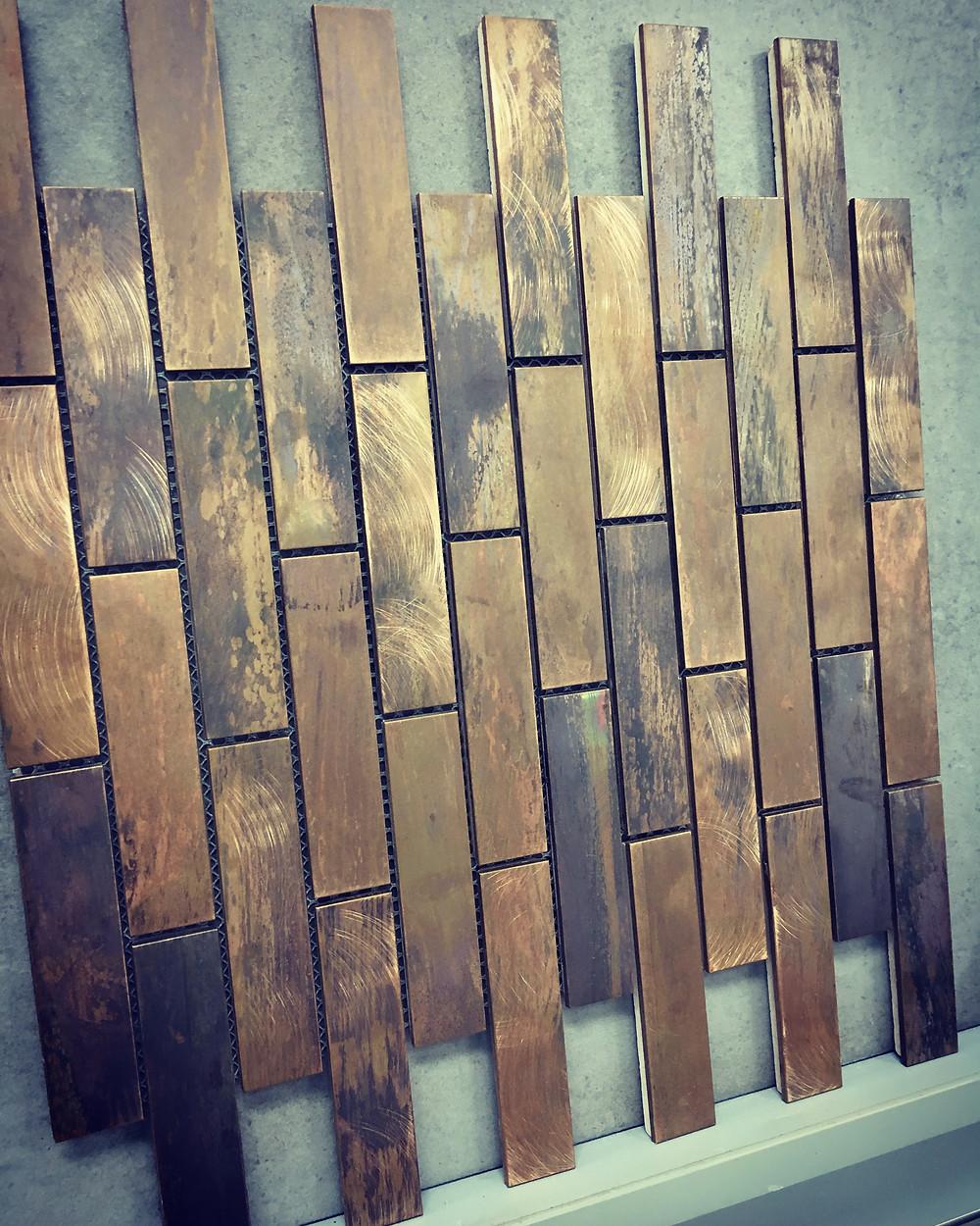 Copper tile sheet from Elegance Tiles