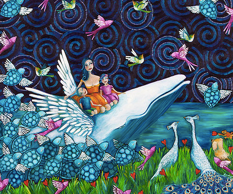 Lady and her Whale