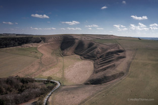 Uffington White Horse Hill from Woolstone