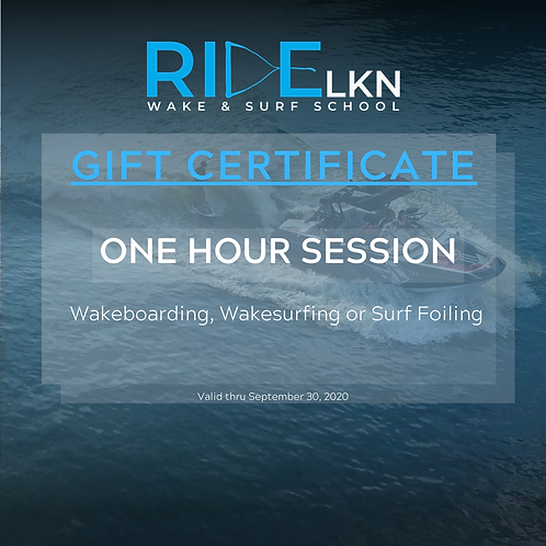 GIFT CERTIFICATE - One Hour Session