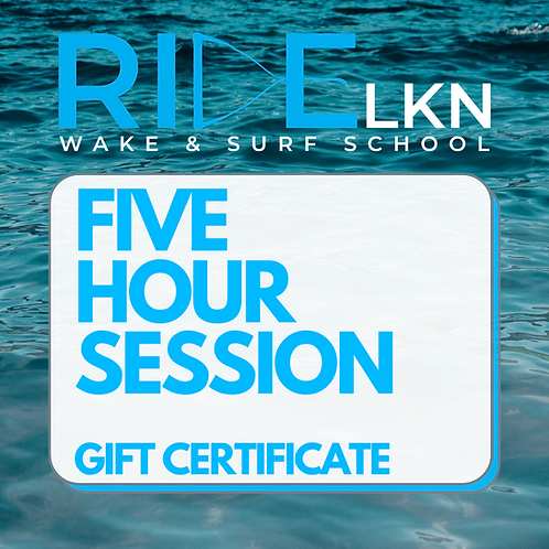 FIVE HOUR SESSION - Gift Certificate