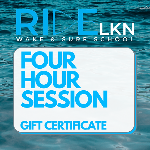 FOUR HOUR SESSION - Gift Certificate