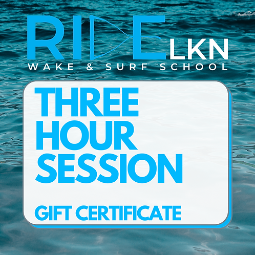 THREE HOUR SESSION - Gift Certificate