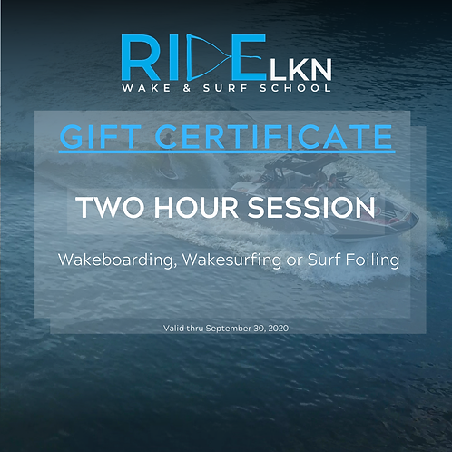 GIFT CERTIFICATE - Two Hour Session
