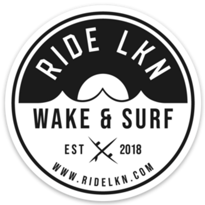 "Ride LKN Sunrise  - 3"" Circular Sticker  (Black)"