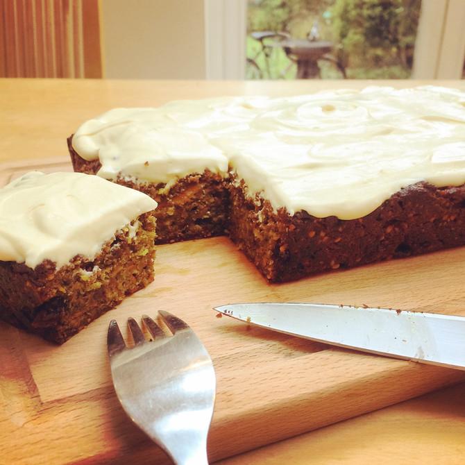 Vegan Carrot & Turmeric cake