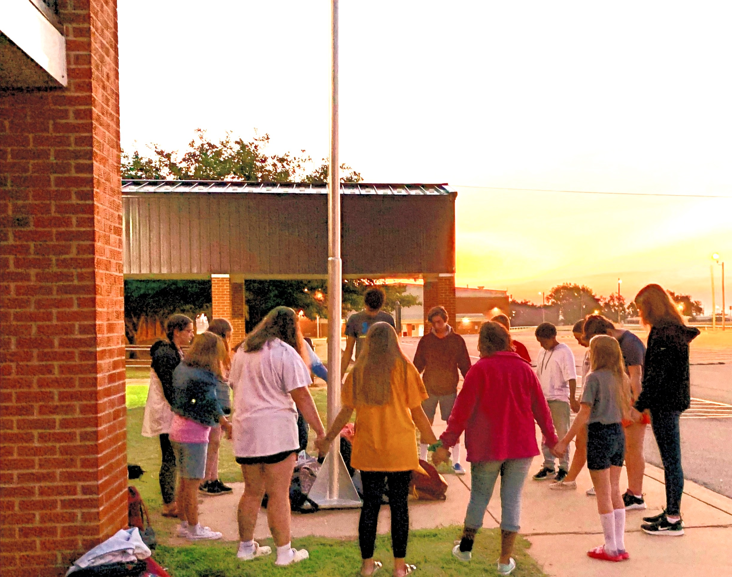 Praying for our school!