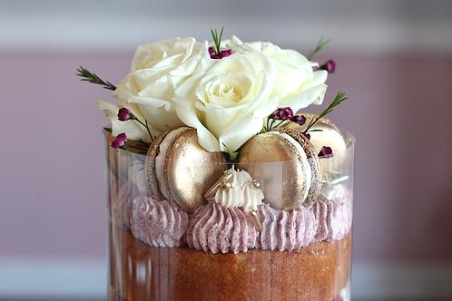 Roses & Raspberries Cake