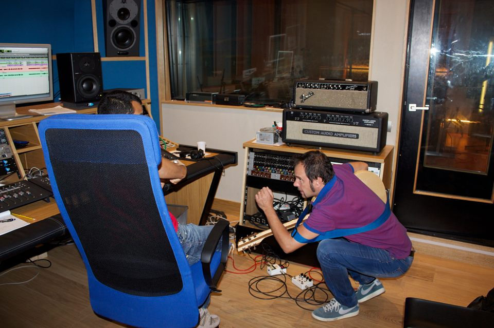 Me with Massimo Roccaforte At Absolute Recording Studio