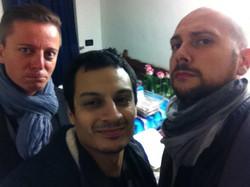 With Gianpaolo Eroli and Alex La Gamba