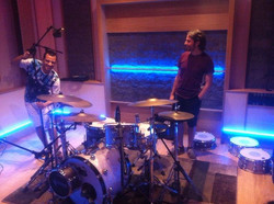 Miking the drum with Puccio Panettieri