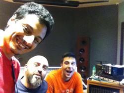 With Stefano Quarta and Primiano Di Biase at Forward Studios 2
