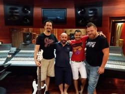 With Mario Guarini, Primiano Di Biase and Ivano Zanotti at Forward Studios