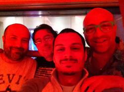 With Emmanuel Maccarrone, Adriano Murania and Luca Scorziello