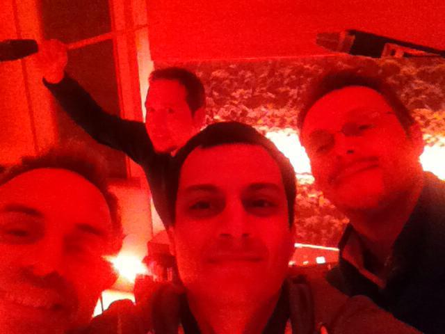 With Marco Rovinelli, Federico Di Gianbattista and Andrea Fabiani