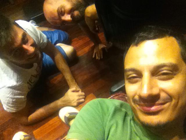 With Stefano Quarta and Primiano Di Biase at Forward Studios