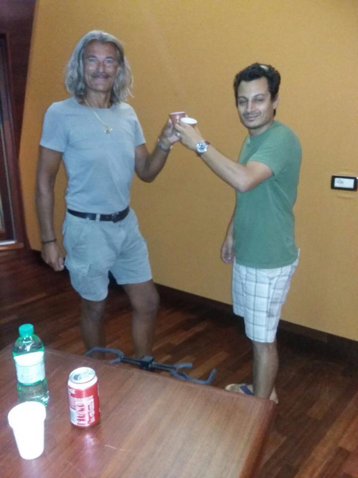 Me with Demo Morselli at Forward Studios