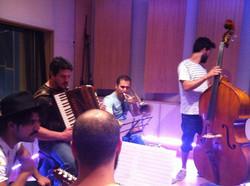 With Mannarino, Dedo, Mauro Menegazzi at Absolute Rec. Studio