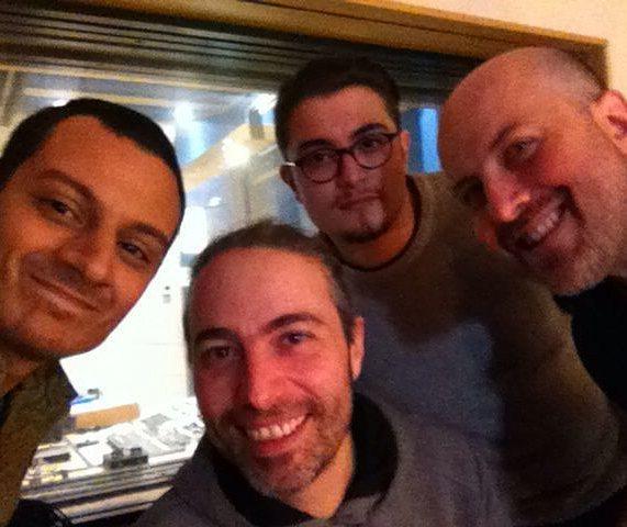 With Puccio Panettieri, Matteo Andolina and Emmanuel Maccarrone