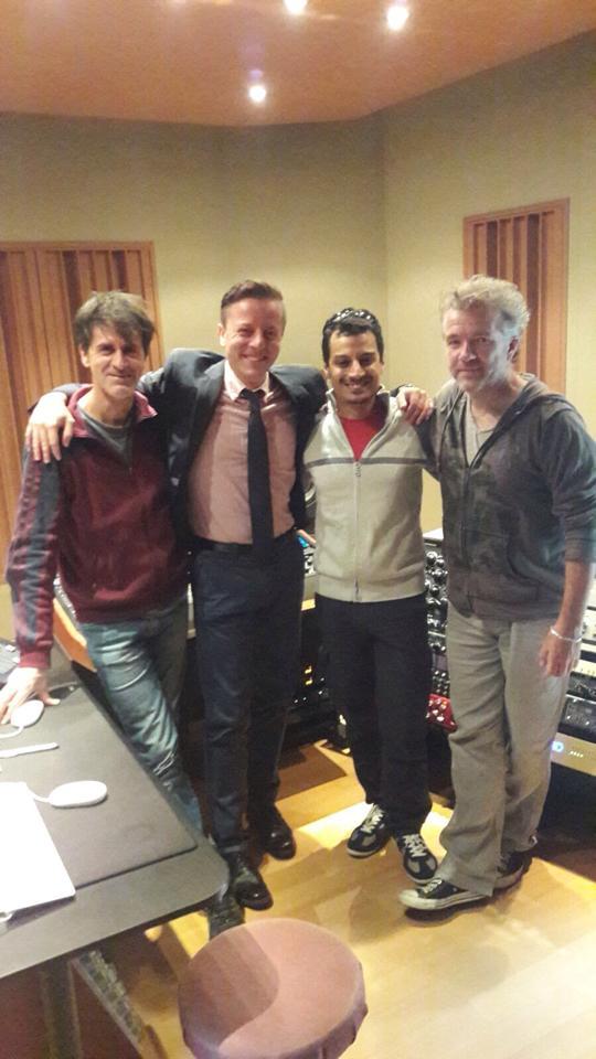 With Carmine Simeone, Giampaolo Eroli and Steve Lyon at Forward Studios