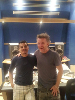 With Steve Lyon at Absolute Rec. Studio