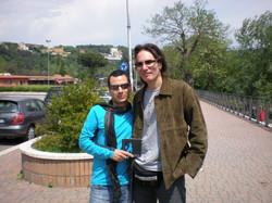 With Steve Vai