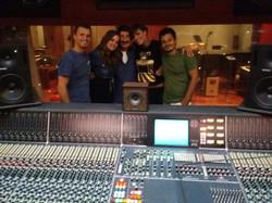 With Roberta Giarrusso, Alma, Gianluca Falcone and Giorgio Ferrara at Forward Studios
