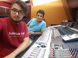 With Matteo Andolina at Forward Studios