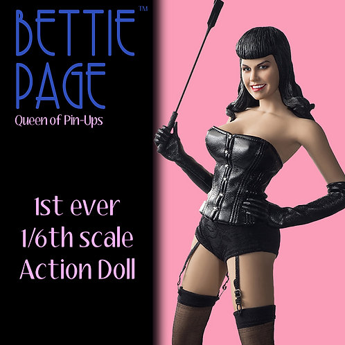 BETTIE PAGE 1/6TH SCALE ACTION DOLL -  SOLD OUT