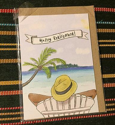 "Greeting card - ""Happy retirement!"""