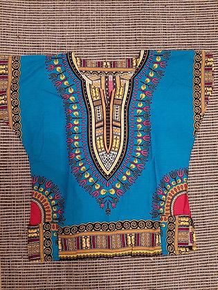 Dashiki,Turquoise Blue (XL)