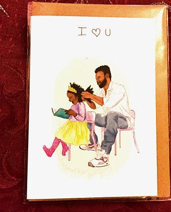 "Greeting card - ""I heart you"""
